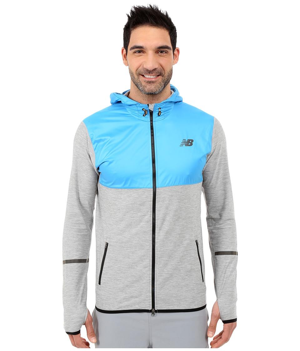 New Balance - Transit Hoodie (Heather Grey/Multi/Sonar) Men's Sweatshirt