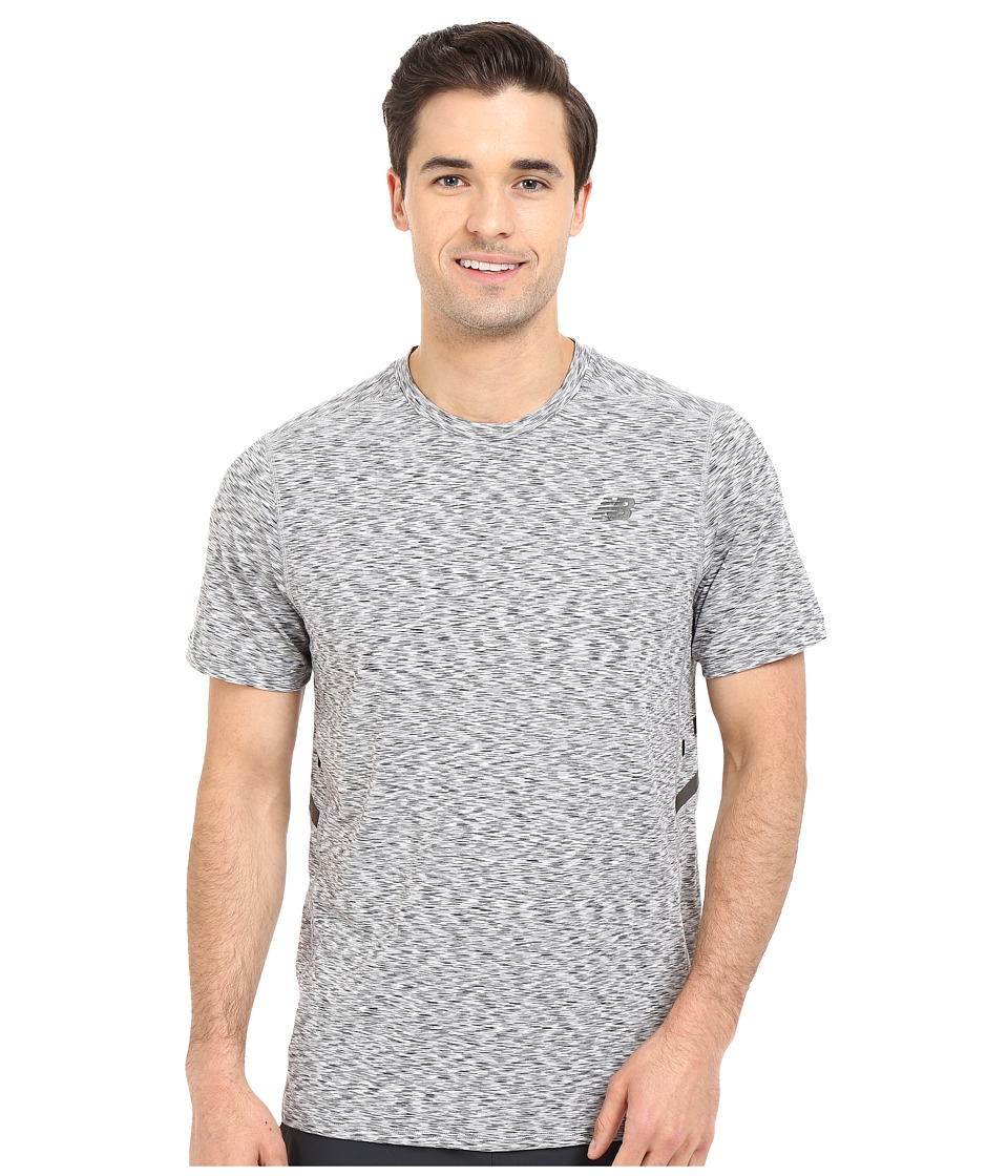 New Balance - Max Speed Short Sleeve Top (Heather Grey) Men's Short Sleeve Pullover