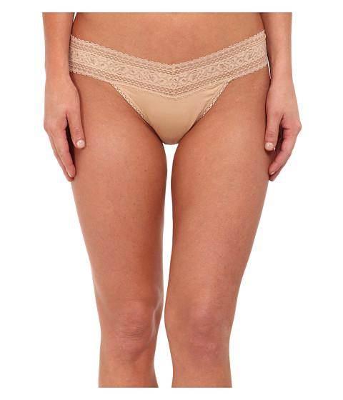 Calvin Klein Underwear - Cotton w/ Lace Thong (Bare) Women