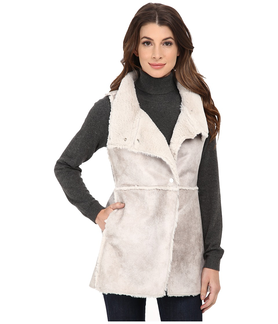 Dylan by True Grit - Vintage Natural Shearling Long Raw Edge Vest (Natural) Women's Vest