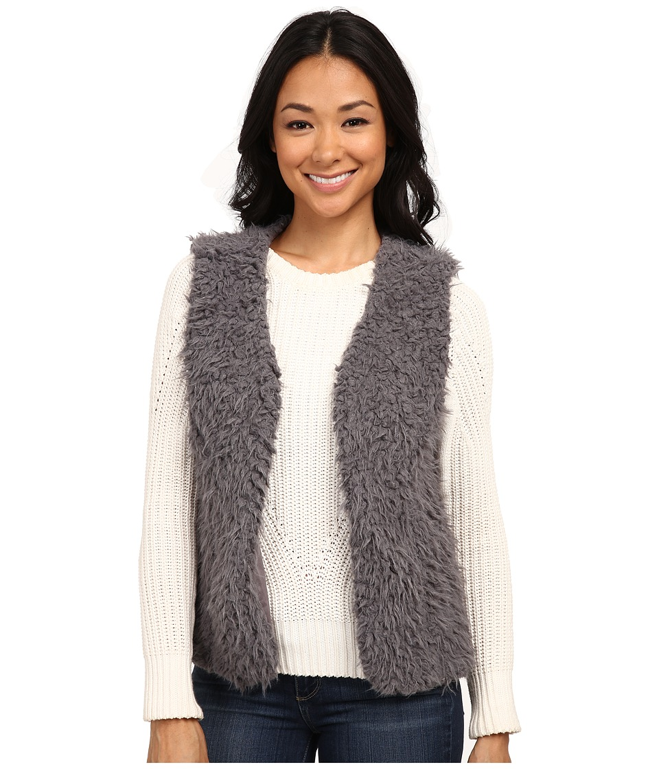 Dylan by True Grit - Fuzzy Fur Pile Vest (Charcoal) Women's Vest