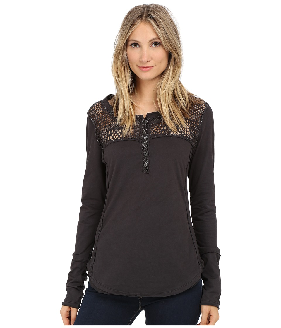 Dylan by True Grit - Homestead Henley (Vintage Black) Women's Clothing