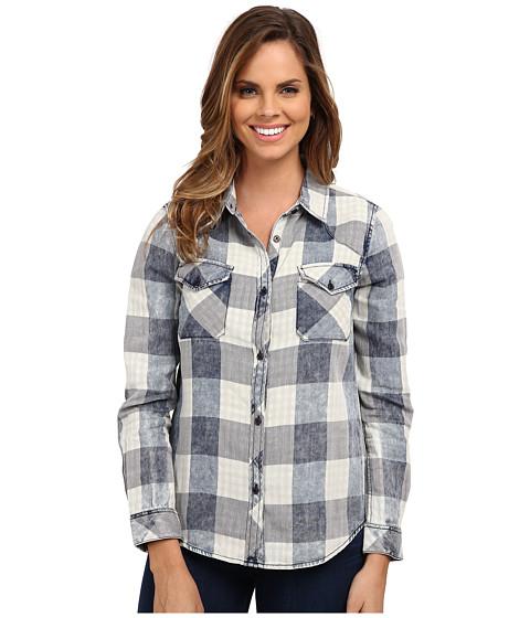 Dylan by True Grit - Buffalo Checks Two-Pocket Shirt (Indigo) Women's Clothing
