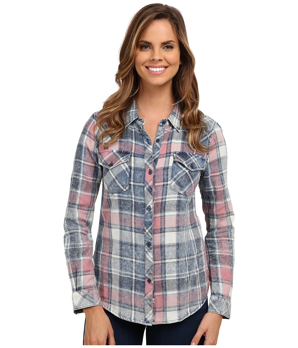 Dylan by True Grit - Indigo American Plaid (Red/Indigo/Natural) Women's Clothing