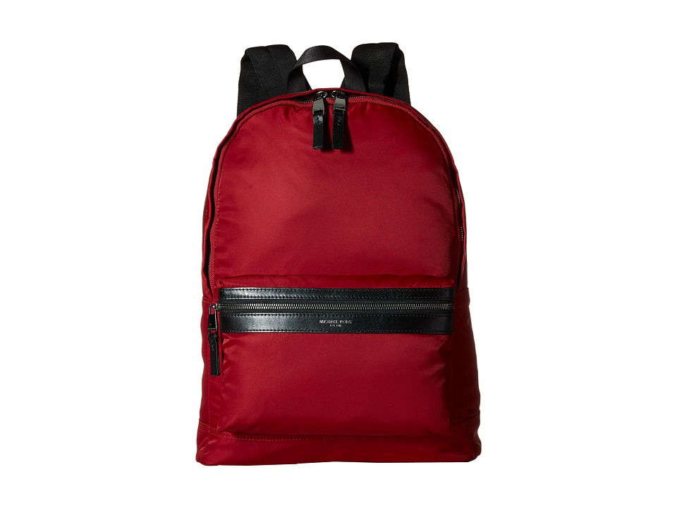 Michael Kors - Kent Lightweight Nylon Backpack (Cardinal) Backpack Bags