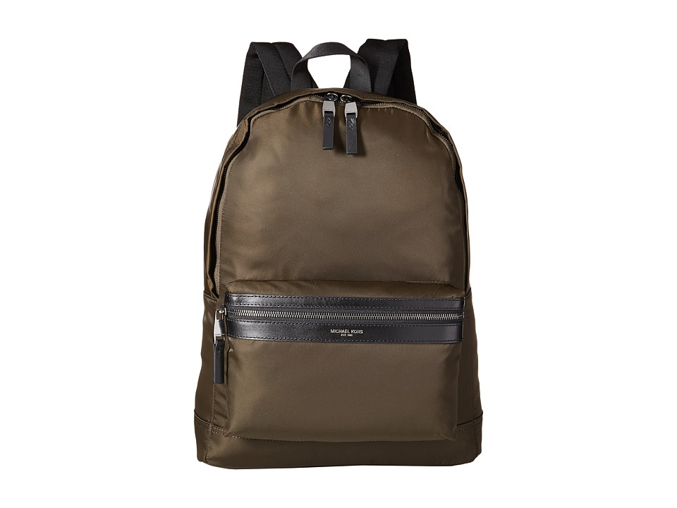Michael Kors - Kent Lightweight Nylon Backpack (Army) Backpack Bags