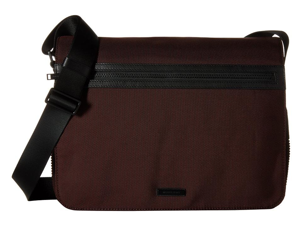 Michael Kors - Parker Ballistic Nylon Large Messenger (Oxblood) Messenger Bags