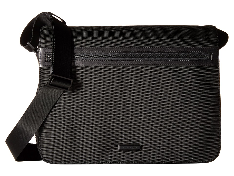 Michael Kors - Parker Ballistic Nylon Large Messenger (Black) Messenger Bags