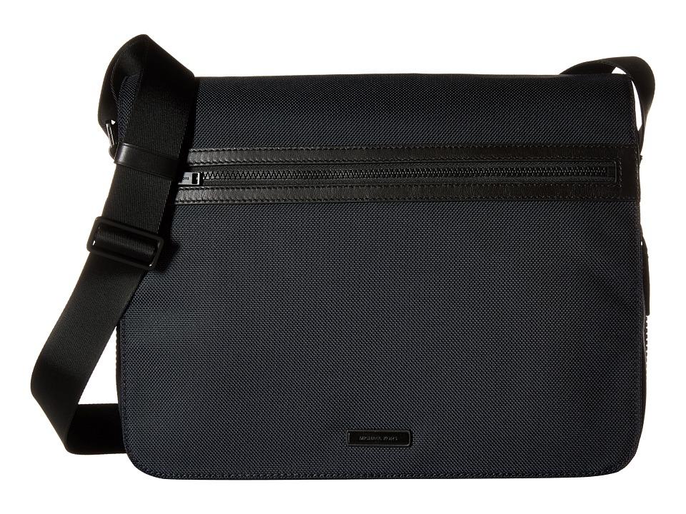 Michael Kors - Parker Ballistic Nylon Large Messenger (Navy) Messenger Bags