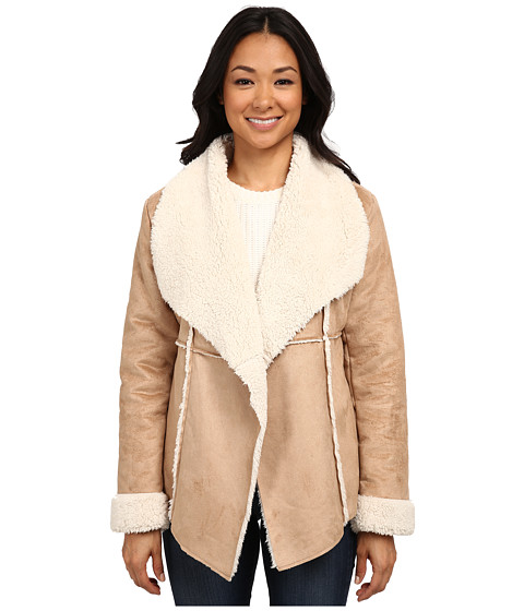 Dylan by True Grit - Soft Faux Suede Jacket w/ Softest Shearling (Shearling) Women's Coat