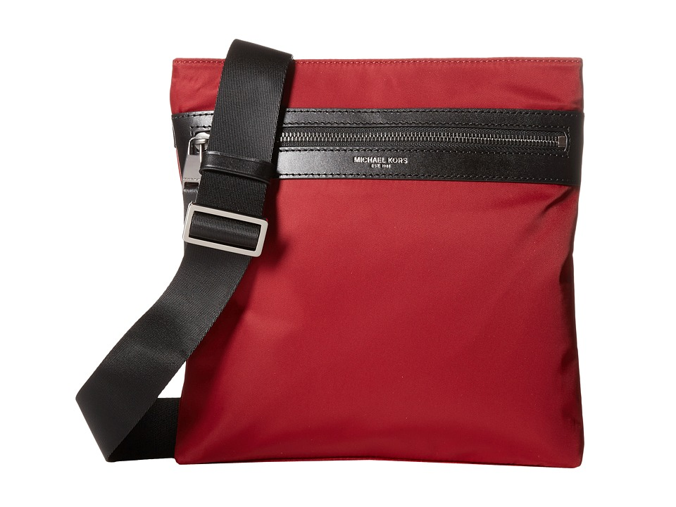 Michael Kors - Kent Lightweight Nylon Small Flat Crossbody (Cardinal) Cross Body Handbags