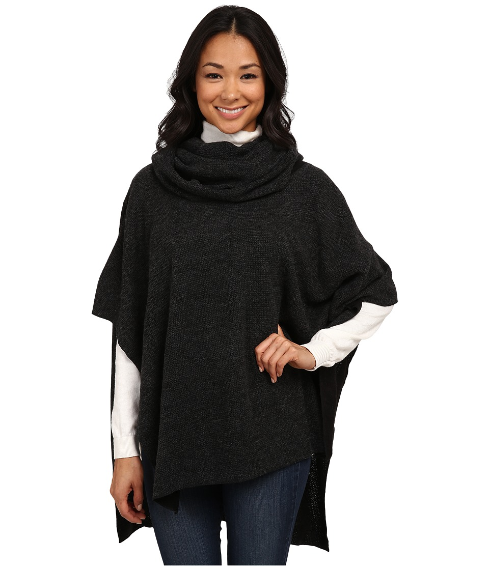 Dylan by True Grit - Free Spirit Sweater Cowl Poncho (Black) Women's Coat