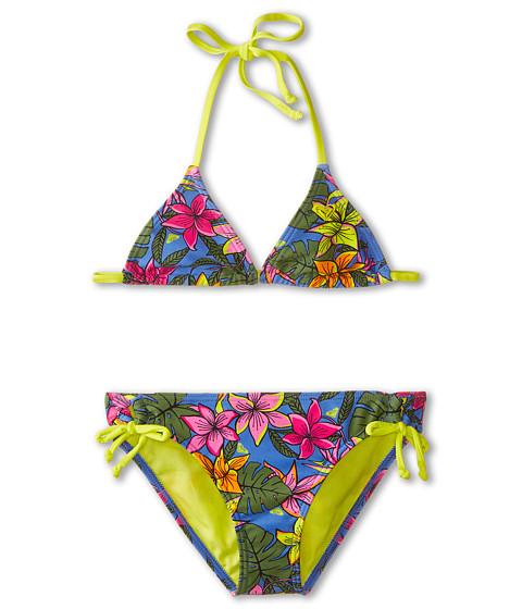 Roxy Kids - Tropics Tiki Two-Piece Set (Big Kids) (Blue Bonnet) Girl's Swimwear Sets