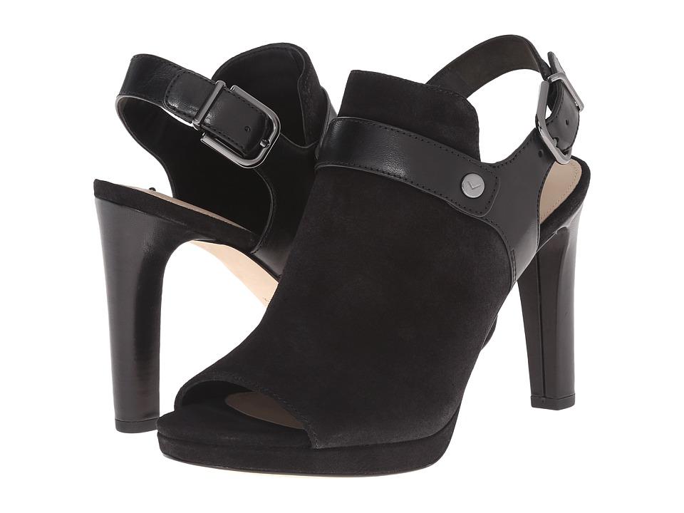 Via Spiga Rilian (Black Sport Suede/Nuova Gren) High Heels