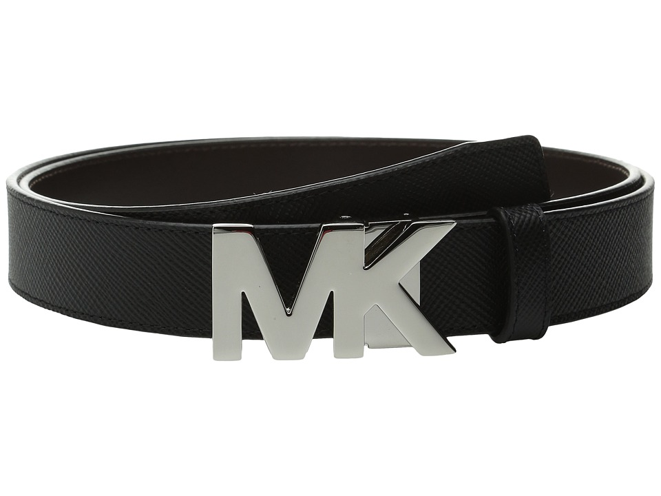 Michael Kors - Box Sets Cross Grain Leather 4-in-1 Belt Box Set (Black/Brown) Men's Belts