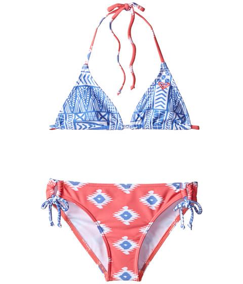 Roxy Kids - Sunset Tiki Set (Big Kids) (Sunkissed Coral) Girl's Swimwear Sets