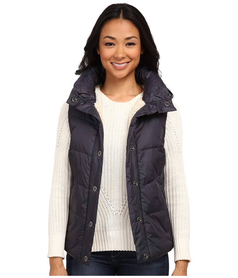 Dylan by True Grit - Seam Stitched Puffer w/ Sherpa Lining (Navy) Women's Vest