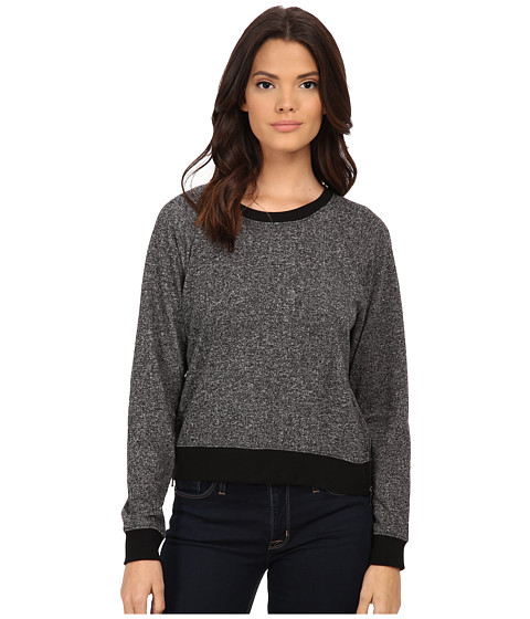 Soft Joie - Giri B 6063-T28116B (Heather Charcoal/Caviar) Women's Sweatshirt