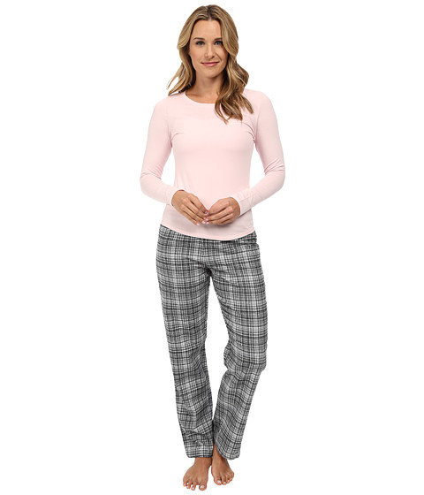 Calvin Klein Underwear - Flannel Mix Sleepwear Gift Set (Francis Plaid/Black) Women's Pajama Sets
