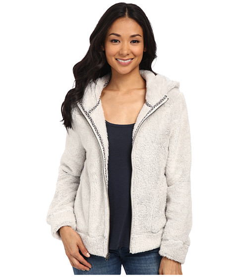 Dylan by True Grit - Double Plush Cozy Zip Jacket w/ Navajo Tape (Winter White) Women's Coat