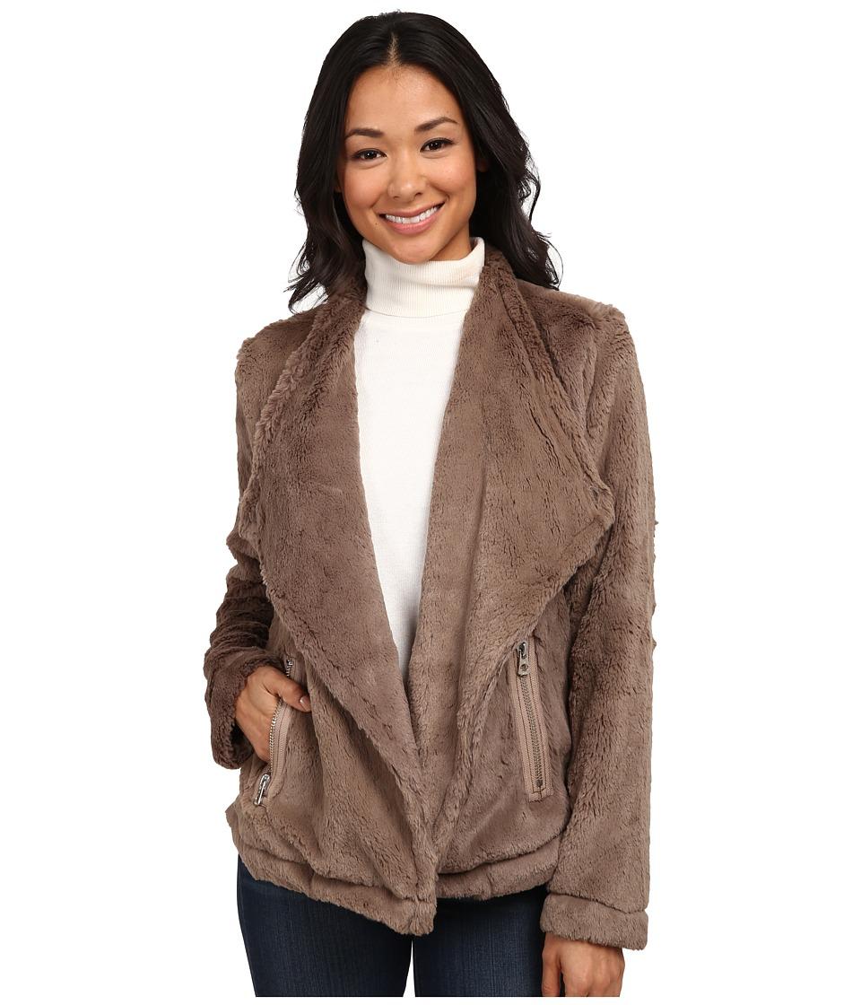 Dylan by True Grit - Dakota Silky Fur Drape Coat (Vintage Brown) Women's Coat