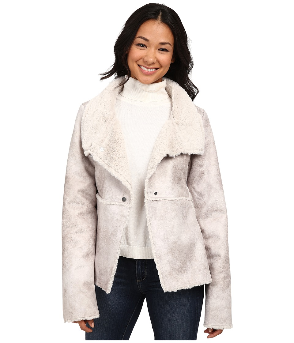 Dylan by True Grit - Natural Shearling Raw Edge Coat (Natural) Women's Coat