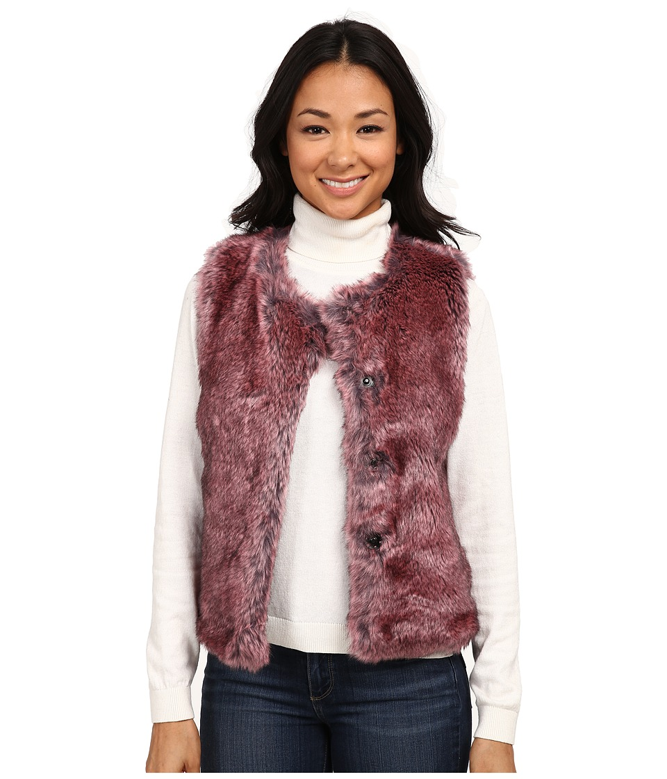 Dylan by True Grit - Rock It Color Tipped Fur Vest (Vintage Pink) Women