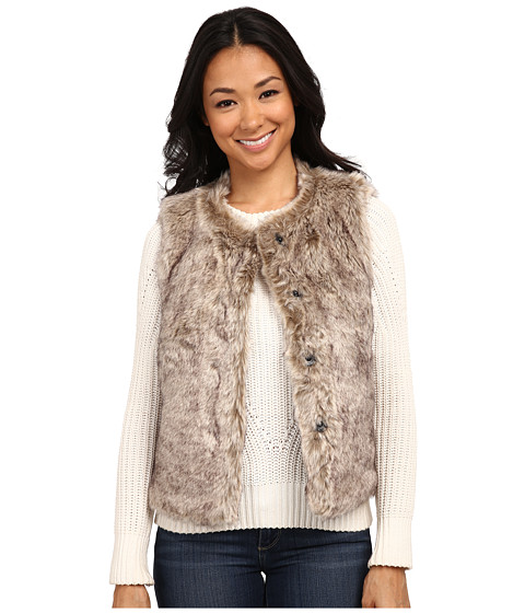 Dylan by True Grit - Rock It Color Tipped Fur Vest (Buff Brown) Women's Vest