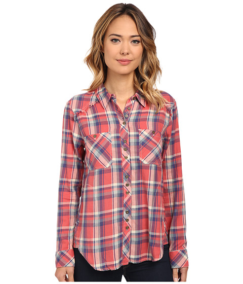 Dylan by True Grit - Freedom Harley Flannel (Washed Red/Indigo) Women