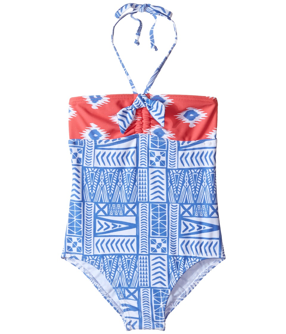 Roxy Kids - Sunset One-Piece (Toddler/Little Kids) (Sunkissed Coral) Girl's Swimsuits One Piece