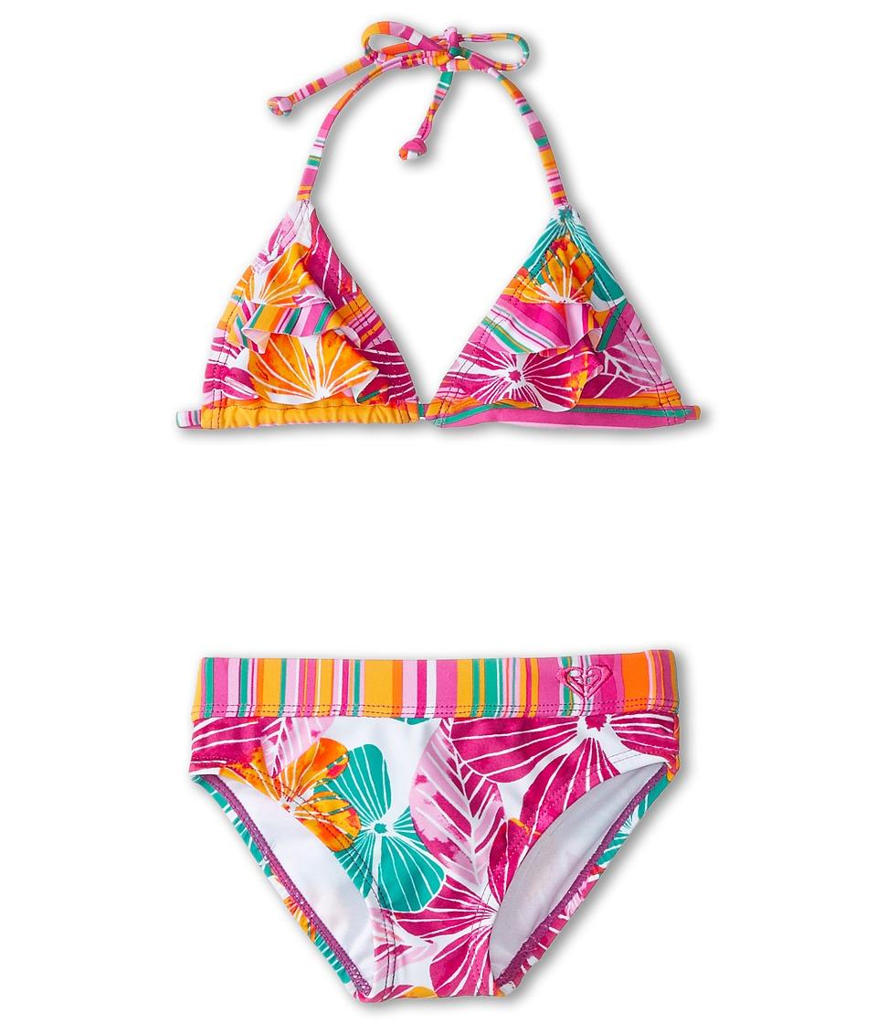 Roxy Kids - Tiki Flutter Two-Piece (Toddler/Little Kids) (White) Girl's Swimwear Sets