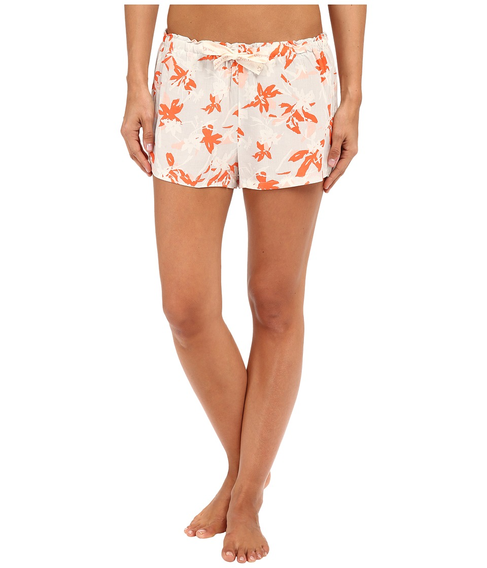 Calvin Klein Underwear - Woven Viscose Sleep Shorts (Movement Floral) Women