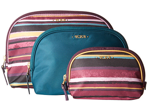 Tumi - Journey - Nesting Pouch Set (Plum Stripe) Travel Pouch