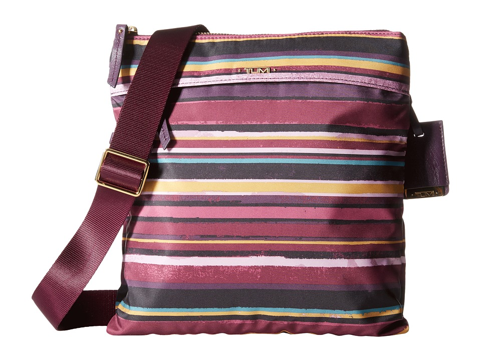 Tumi - Voyageur - Calera Crossbody (Plum Stripe) Cross Body Handbags