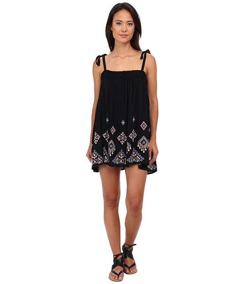Free People - Noyal Summer Sun Tunic (Black Combo) Women
