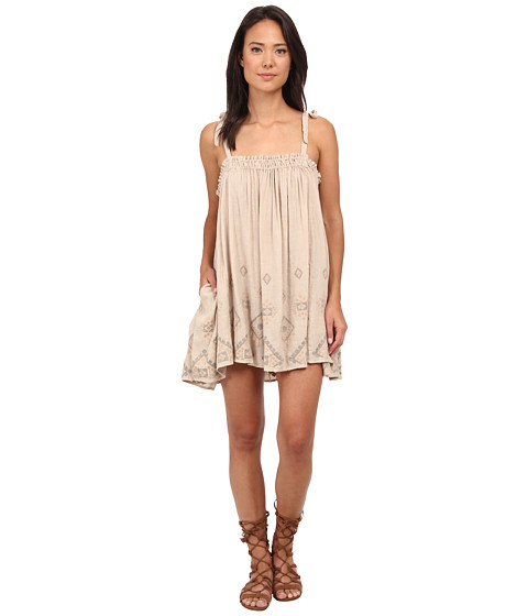 Free People - Noyal Summer Sun Tunic (Taupe Combo) Women's Dress