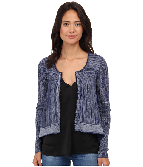 Free People - Never Again Cardi (True Blue Combo) Women's Sweater