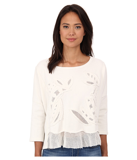 Free People - Terry Rainforest Pullover (Ivory) Women