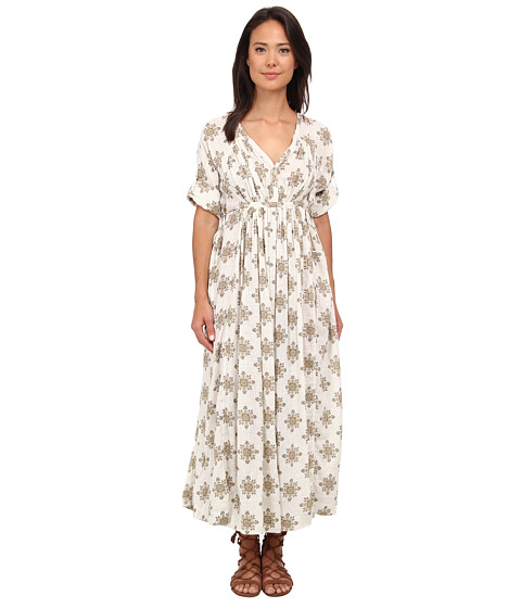 Free People - Noyal Oasis Maxi Dress (Vanilla Combo) Women