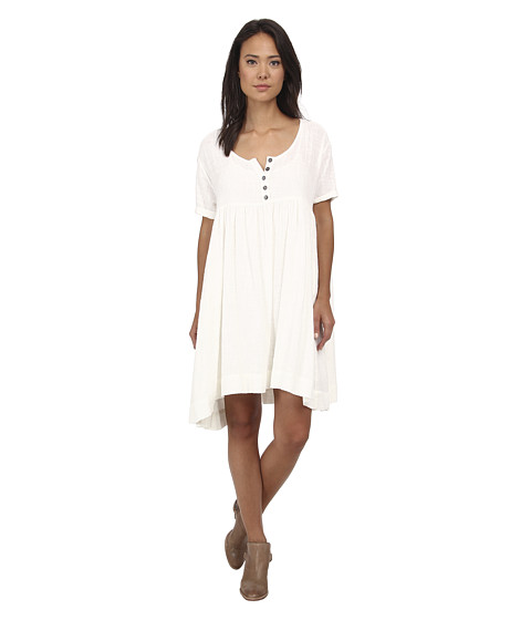 Free People - Summer Winds Babydoll Dress (Ivory Combo) Women