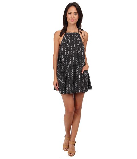 Free People - Trapeze Printed Mini Dress (Black Combo) Women's Dress