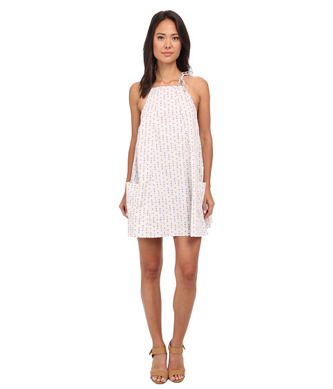 Free People - Trapeze Printed Mini Dress (Stone Combo) Women's Dress
