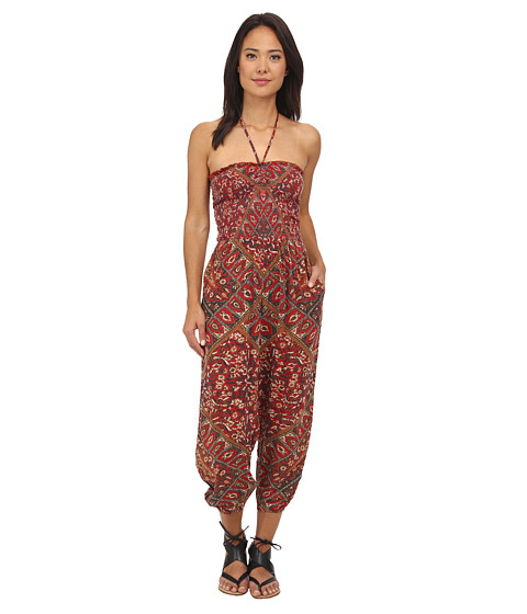 Free People - Balloon One-Piece (Ruby Combo) Women's Jumpsuit & Rompers One Piece
