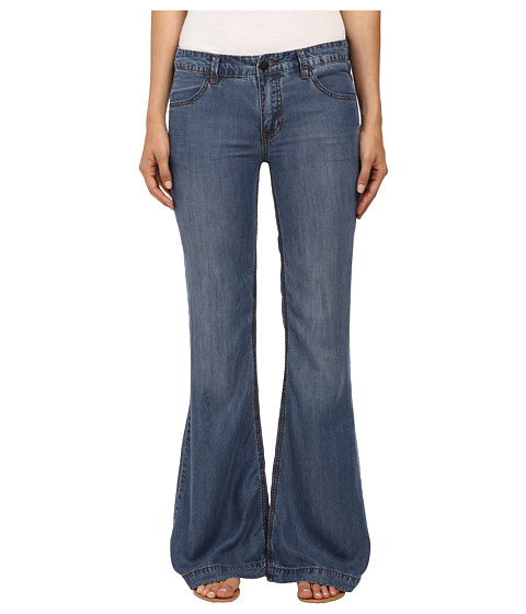 Free People - Denim Tencel Flare (Imperial) Women