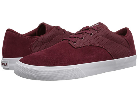 Supra - Pistol Low Top (Tawny Port/White) Men's Skate Shoes