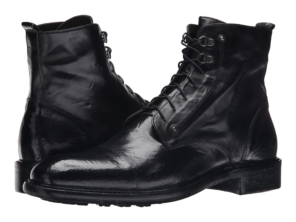 Kenneth Cole Black Label - Worth-Y (Black) Men's Lace-up Boots