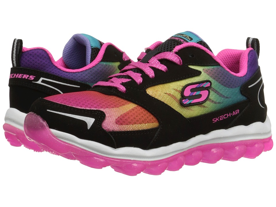 SKECHERS KIDS - Skech Air (Little Kid/Big Kid) (Black/Multi) Girl's Shoes