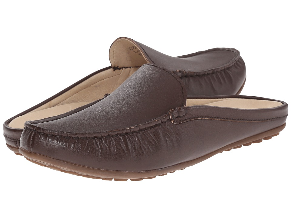 David Tate - Lizzy (Brown Calf) Women's Slip on Shoes