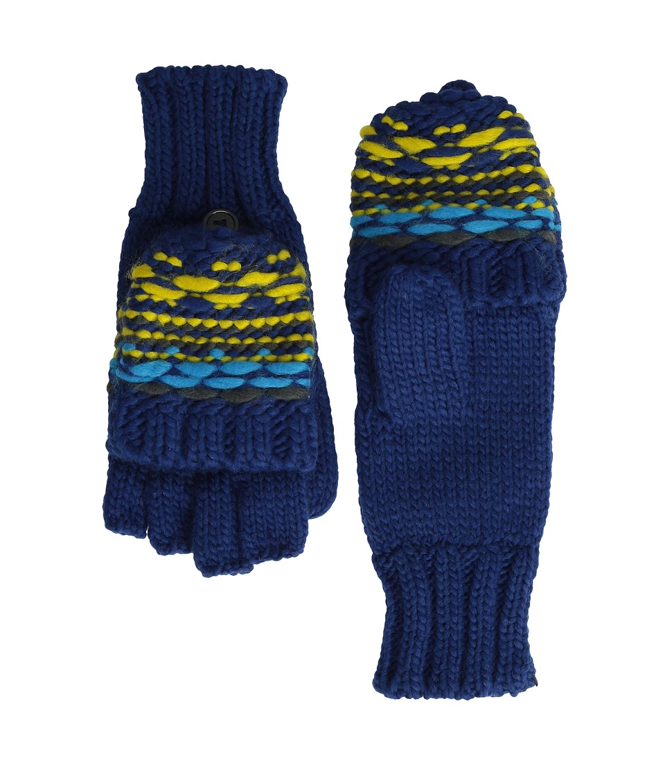 Echo Design - Float Stitch Pop Top Gloves (Ultra Marine) Extreme Cold Weather Gloves