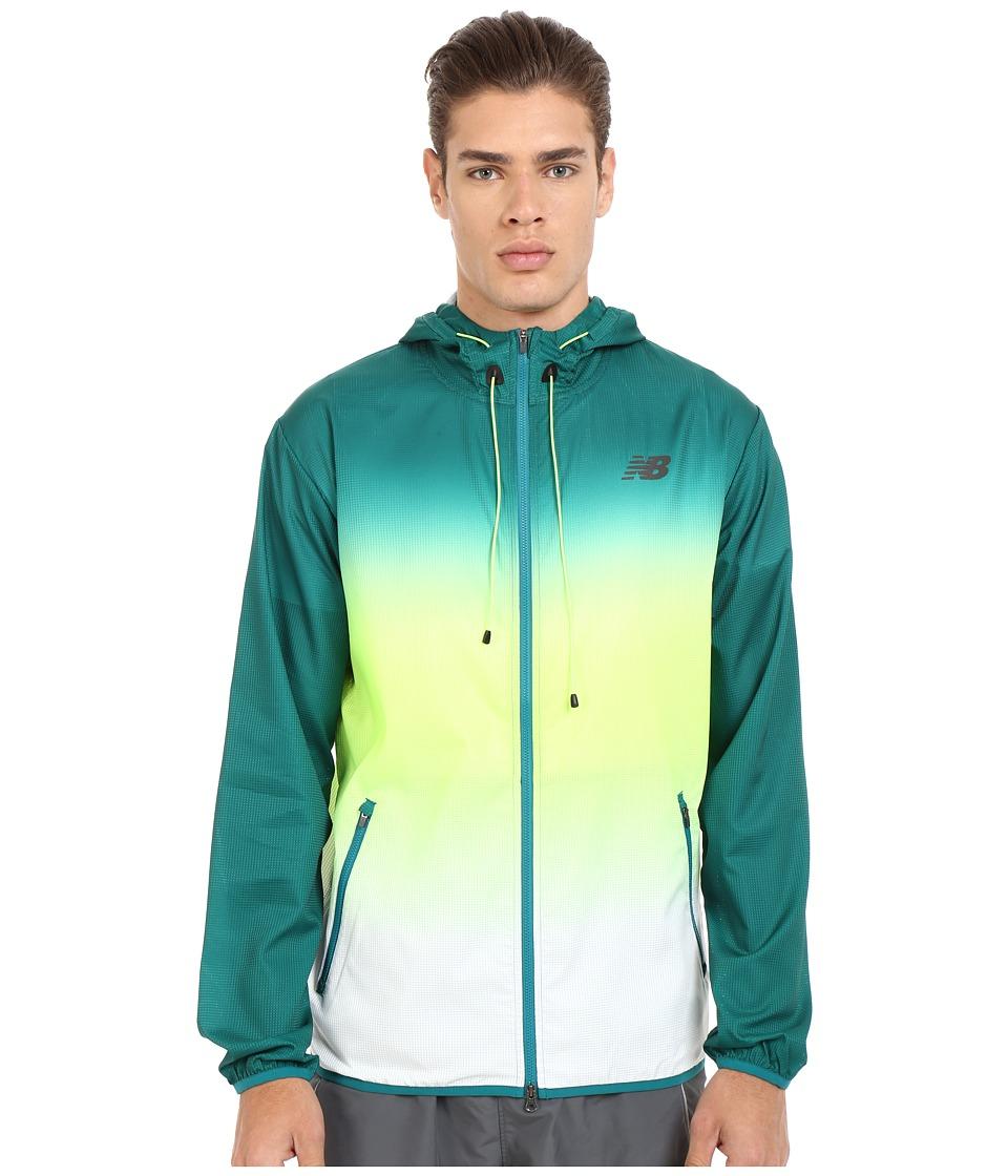 New Balance - Windcheater Hybrid Jacket (Juniper/Toxic) Men's Coat